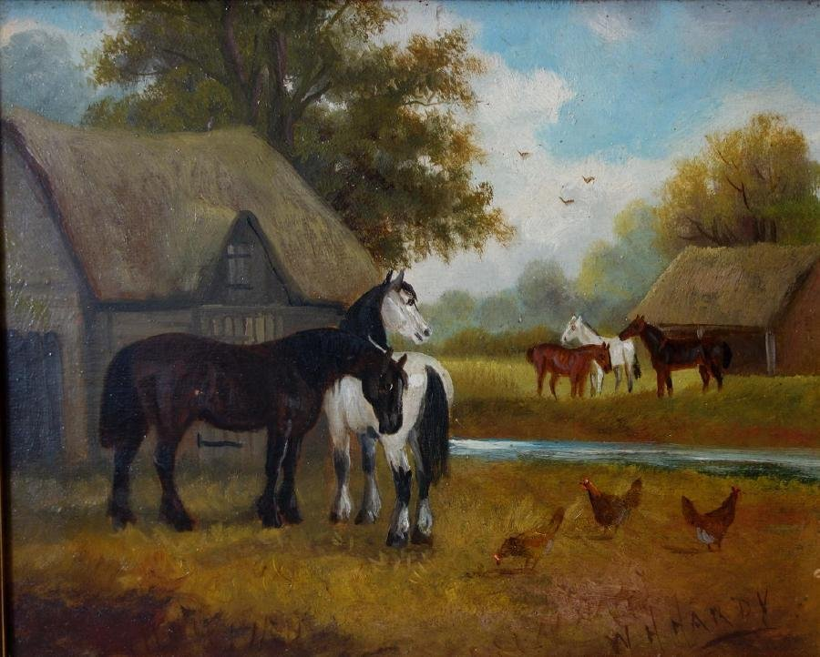 William Howard Hardy (19thc UK) Barnyard