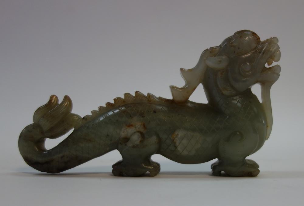 Fine Chinese Jade Qilin Mythological beast