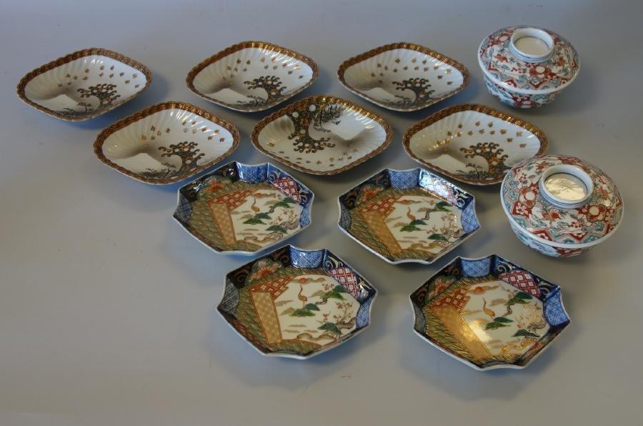 Japanese Imari & Satsuma Dishes, Bowls +