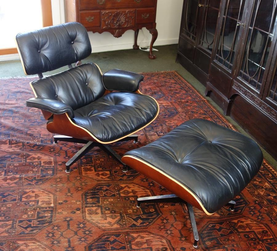 Eames Leather Chair & Ottoman by Herman Miller