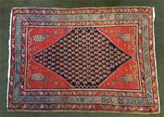 Persian Boteh & Diamond Pattern Wool Rug