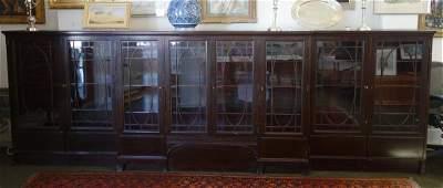 Edwardian Breakfront Mahogany Bookcase