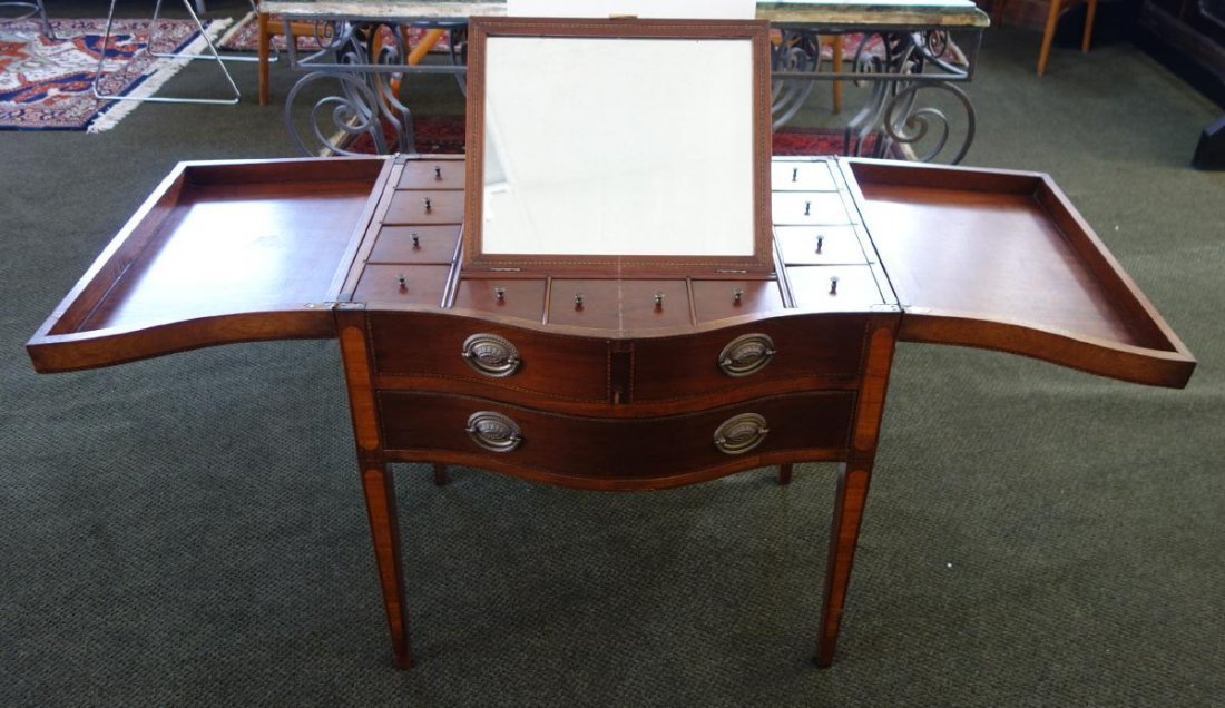 19thc Mahogany Beau Brummel Dressing Table