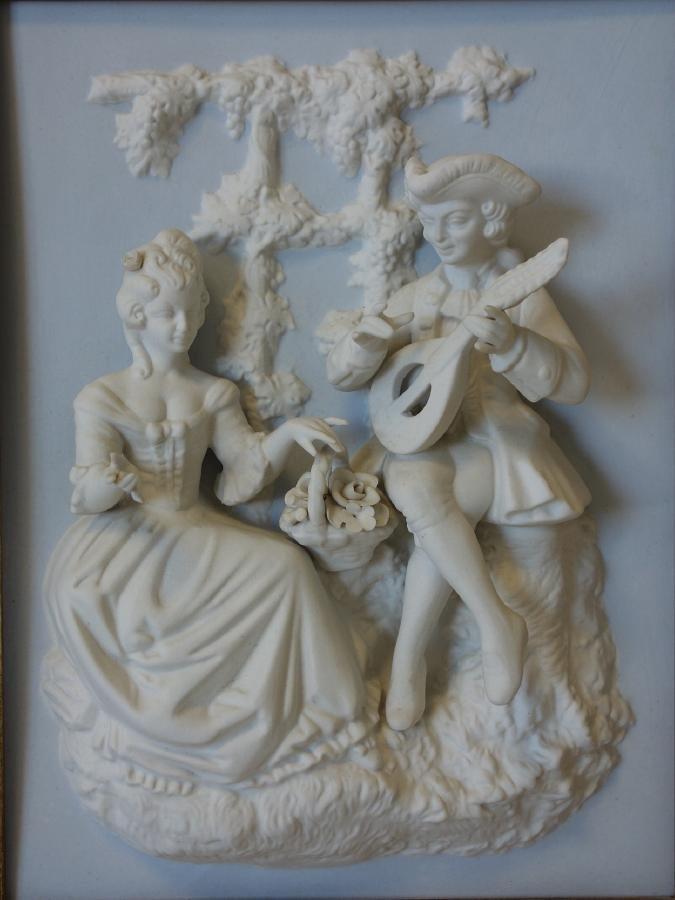 Dresden / Meissen Parian Classical Plaques - 2