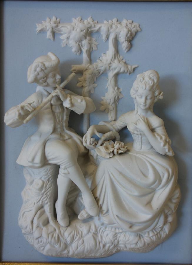 Dresden / Meissen Parian Classical Plaques - 3
