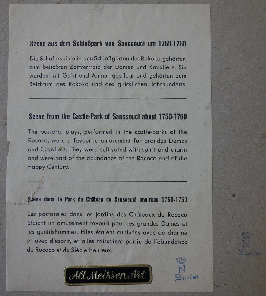 Dresden / Meissen Parian Classical Plaques - 4