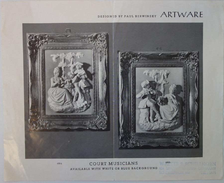 Dresden / Meissen Parian Classical Plaques - 5