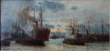 Charles W. Wyllie (1853-1923) Pool of London