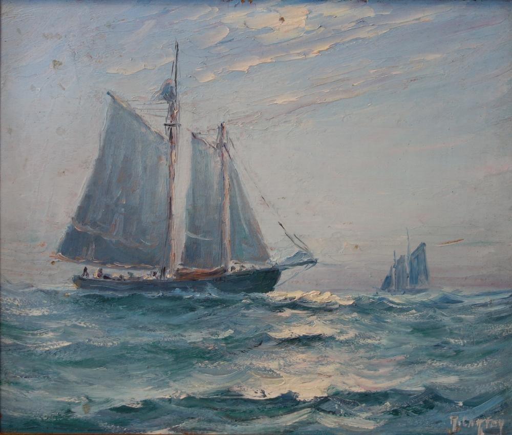 R. Carter, Marine Paintings, Sailing Ships, Maine - 4