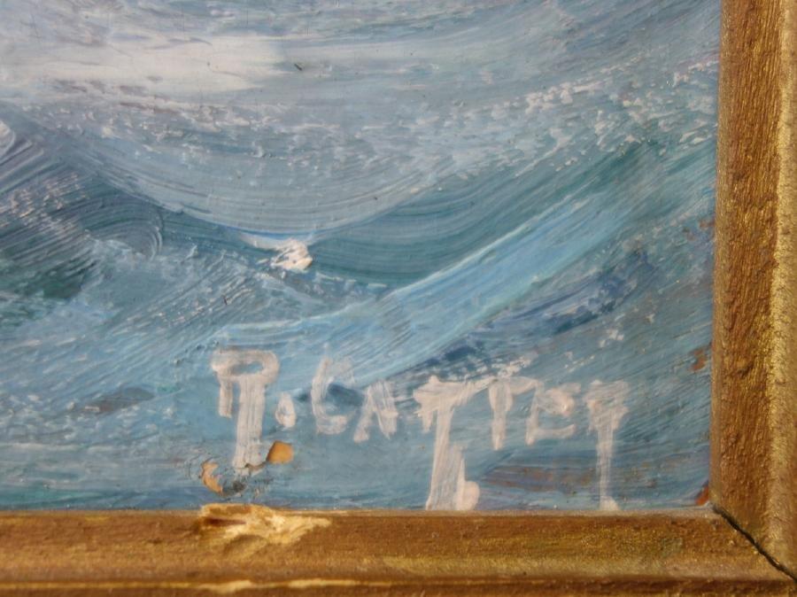 R. Carter, Marine Paintings, Sailing Ships, Maine - 6