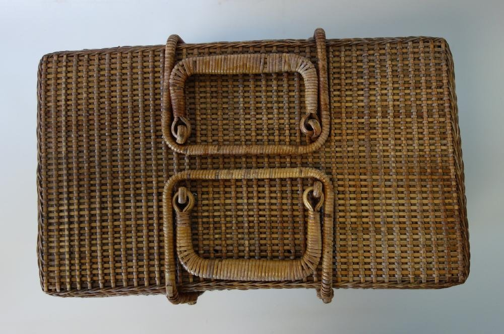 Large Shaker Woven Picnic / Sewing Basket - 2