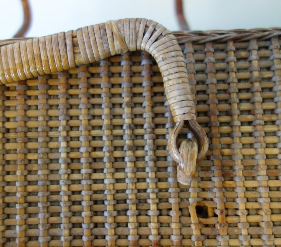 Large Shaker Woven Picnic / Sewing Basket - 3