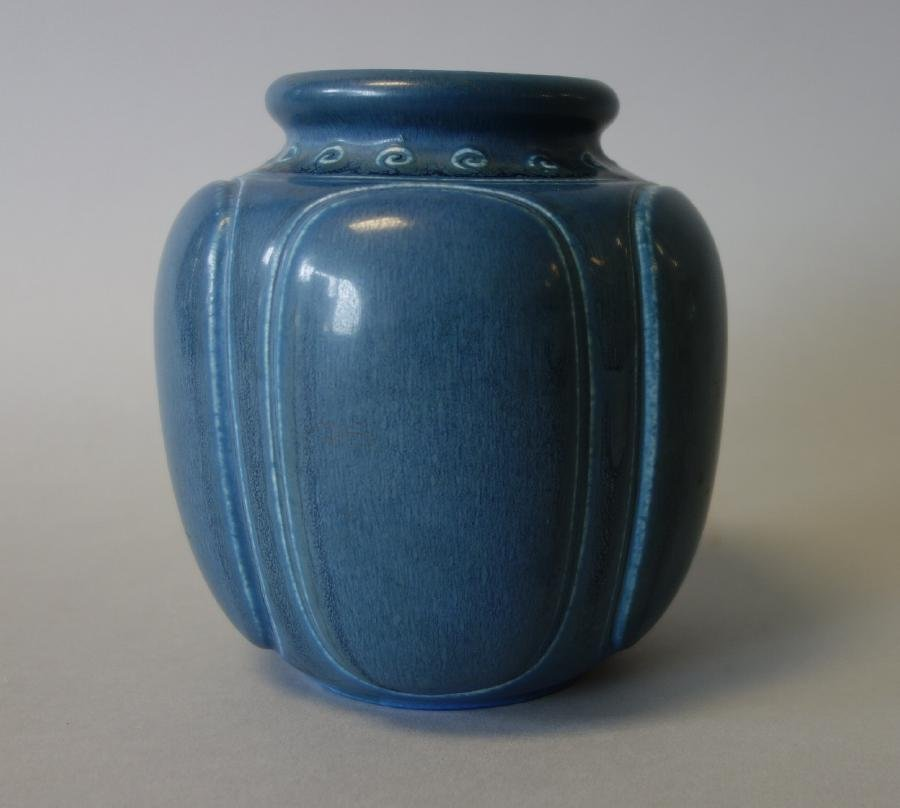 Rookwood Pottery Matte Blue Vase, 1928