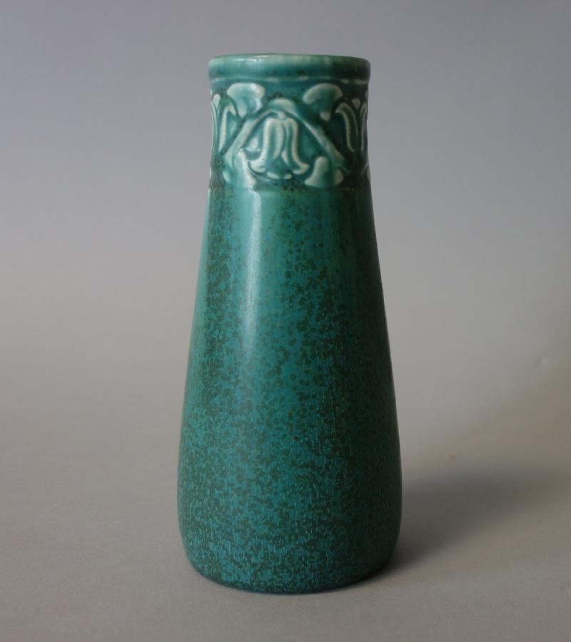 Rookwood Pottery Matte Teal Vase, 1928