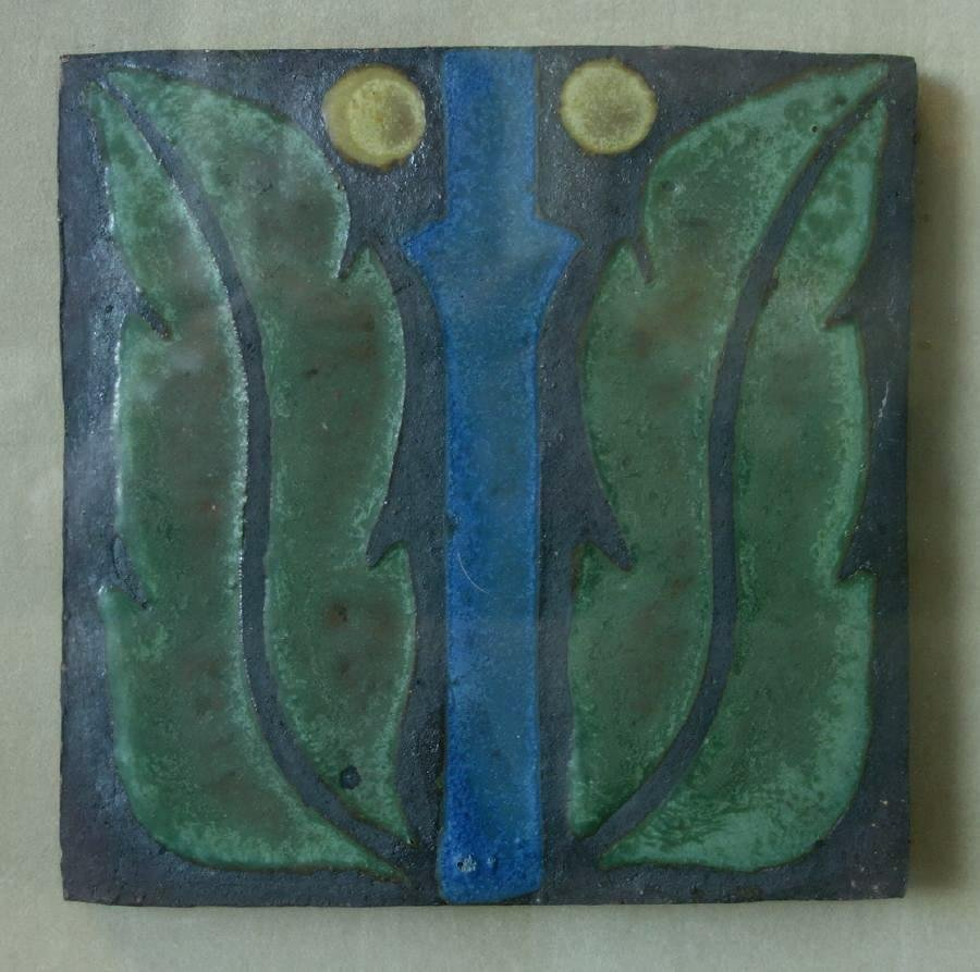 Antique Van Briggle Pottery Tile, c.1907-12