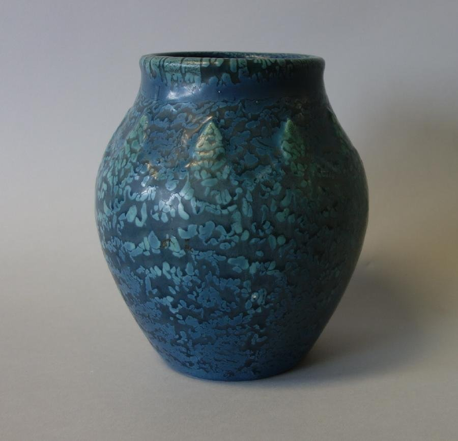 Hampshire Pottery Vase, Raised Bud Motif
