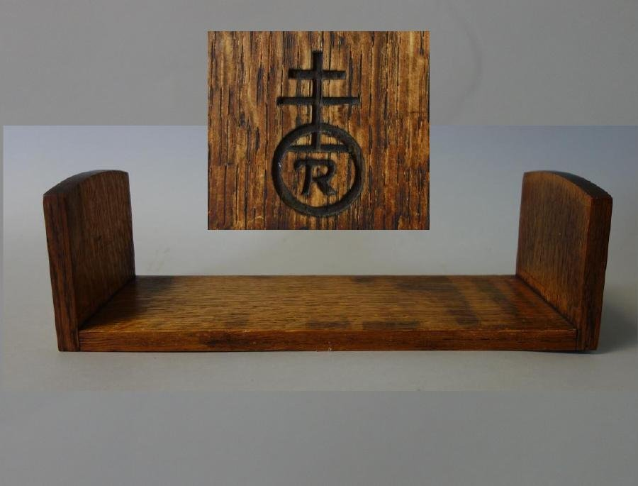 Roycroft Oak Book Holder, Signed with Orb Mark