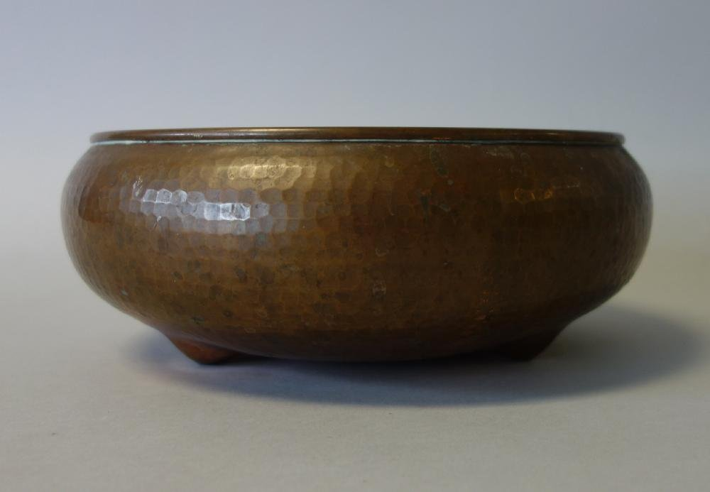 Large Roycroft Hand Hammered Copper Bowl