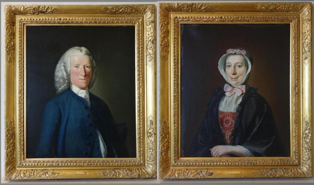 Circle of Allan Ramsay, Two 18thc Portraits