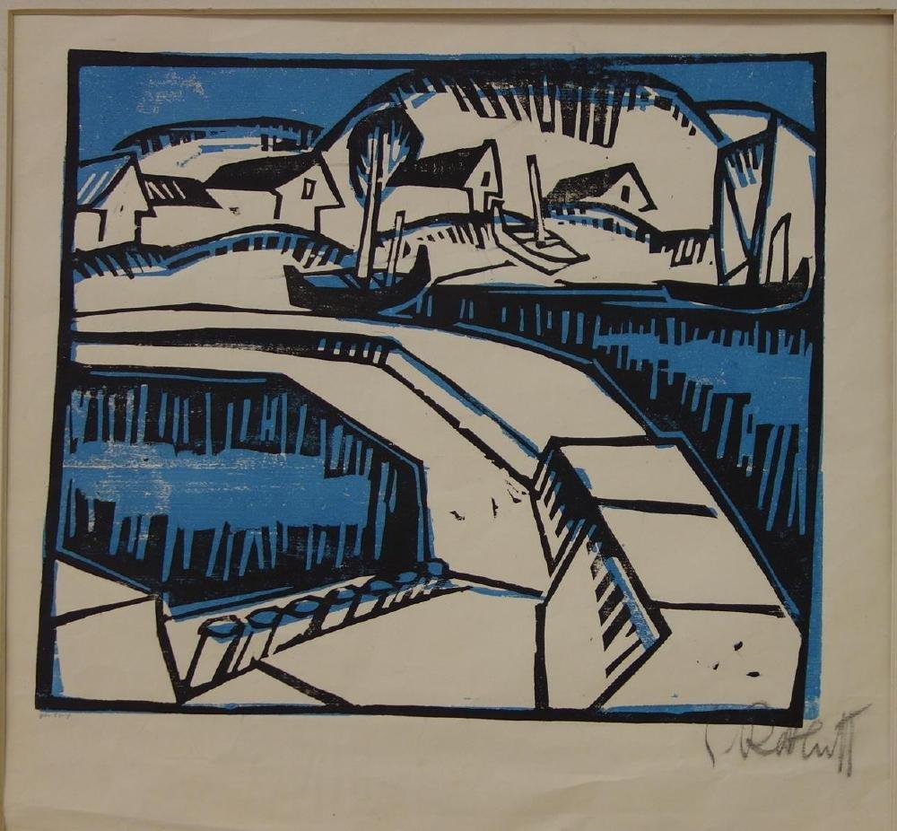 Karl Schmidt-Rottluff (1884-1976) Dunen und Mole