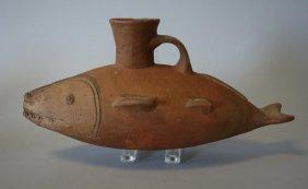 Huari Ceramic Single Spout Fish Vessel, 750-1100ad