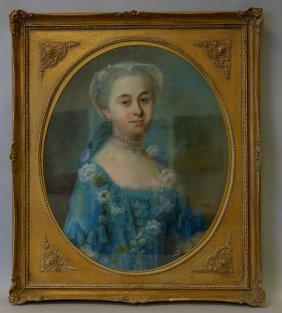 19thc Portrait Of A Young Lady