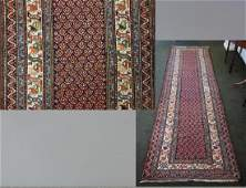 Antique Caucasian Kazak Carpet Runner 12 ft long