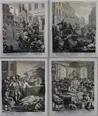 Hogarth 4 Stages of Cruelty from Original Plates