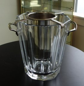 Baccarat Crystal Champagne Bucket & Insert