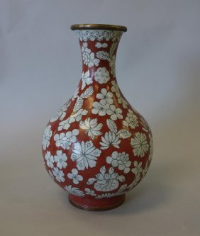 Chinese Cloisonne Vase, Early Republic Period