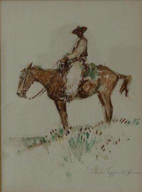 Nick Eggenhofer (1897-1985) Cowboy On Horseback