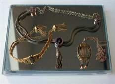 Victorian Gold Mesh Bracelet  Necklaces