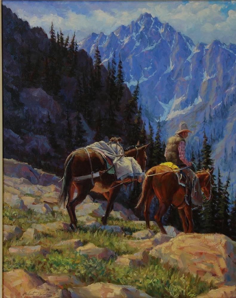 Robert Winter (b-1953) Down the Mountain
