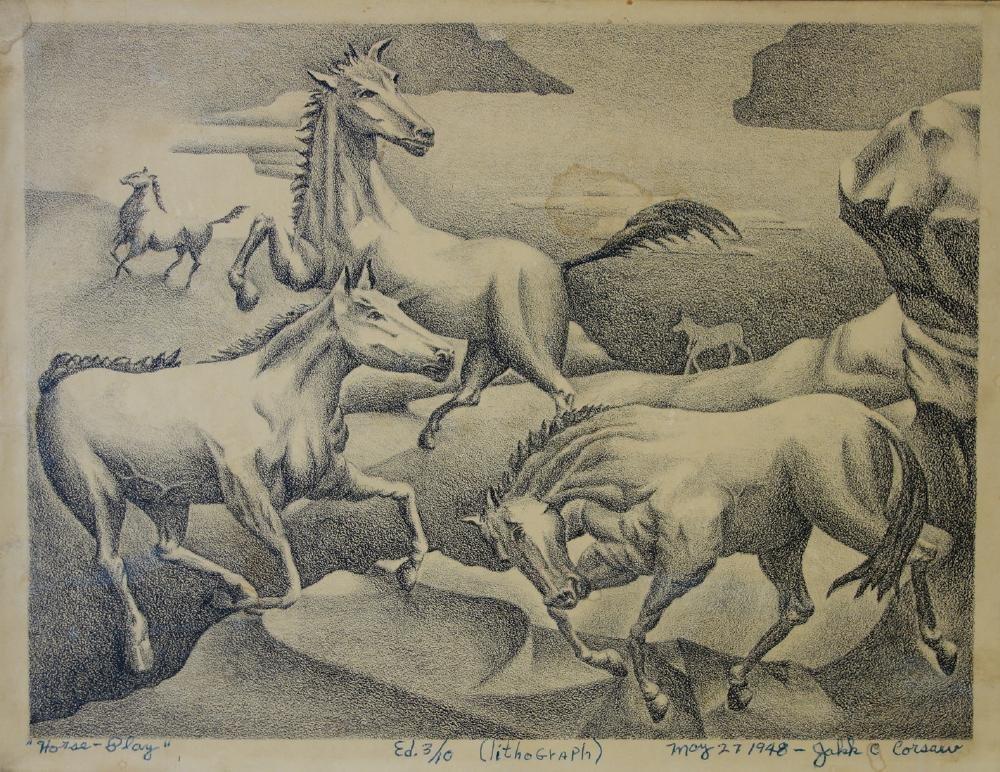 """Jakk Corsaw, """"Horse Play"""", 1948"""