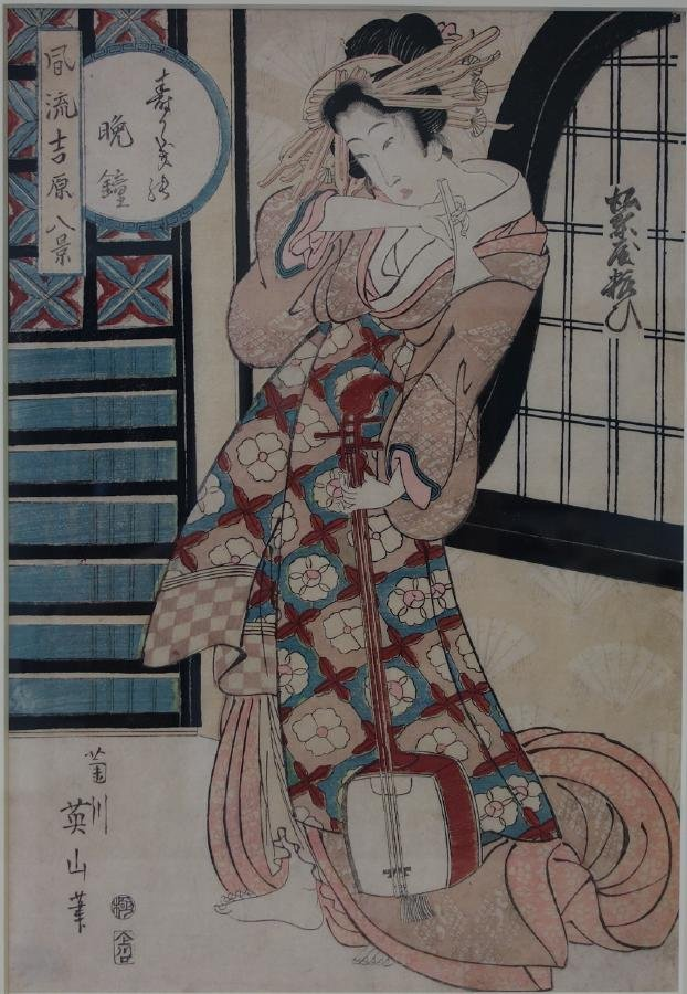 Kikukawa Eizan (1787-1867) Scene of Elegant Yoshi