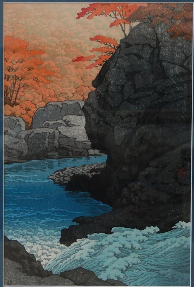 Kawase Hasui, Tengu Rock,  Autumn at Shirobara,