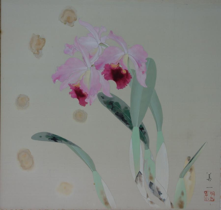 Yoshikazu, Japanese Watercolor, Vibrant Orchid