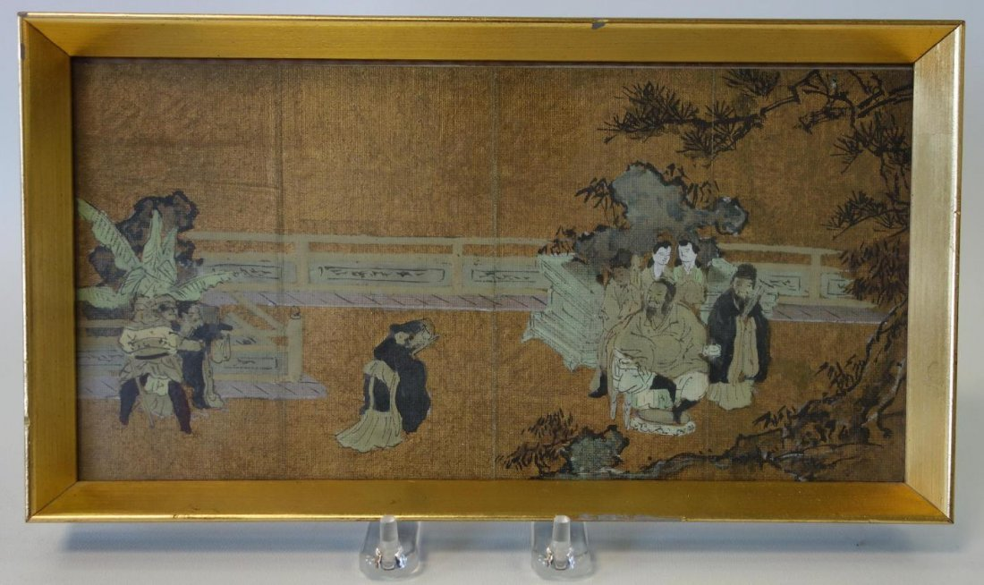Chinese Painting on Fabric, Framed