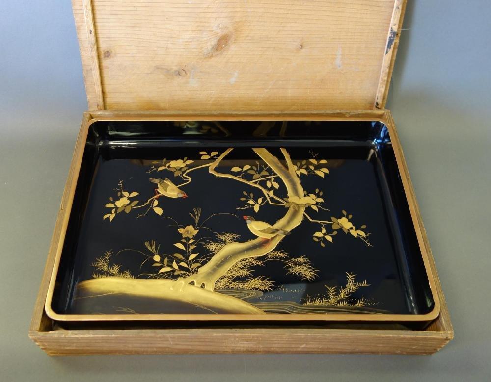 Large Japanese Gold Maki-e Lacquer Tray