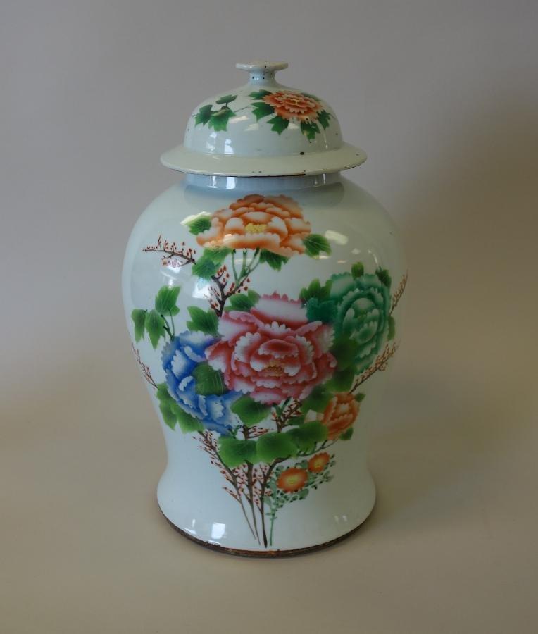 19thc Chinese Enamel Porcelain Ginger Jar