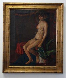 Philip Miller (1896-1977) Seated Nude Female