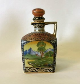 Nippon Hand Painted Porcelain Decanter
