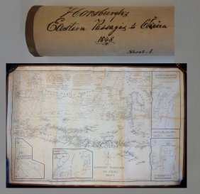Antique Map, Eastern Passages To China, Horsburgh