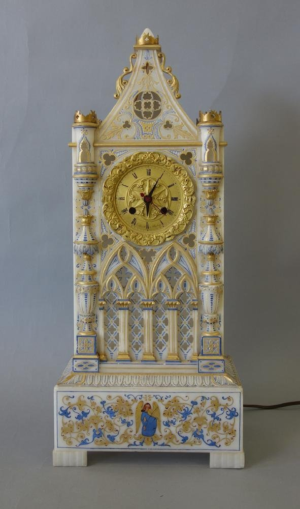 Alabaster Cathedral Clock, Sessions Clock Co