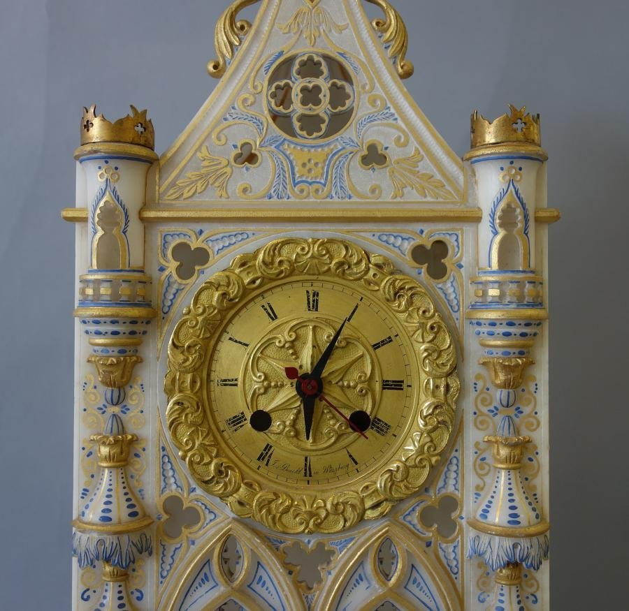 Alabaster Cathedral Clock, Sessions Clock Co - 2