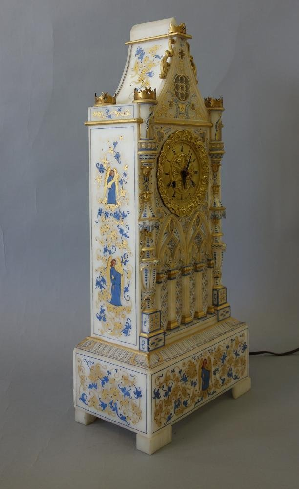 Alabaster Cathedral Clock, Sessions Clock Co - 6