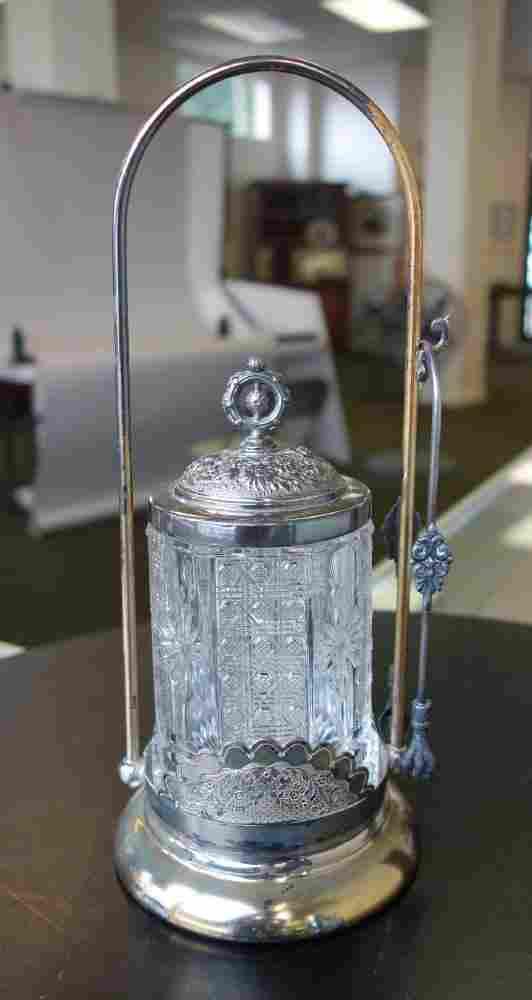 Victorian Pickle Castor, Button / Rosette Motif