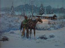 Fred Oldfield (b-1918) Arriving Home