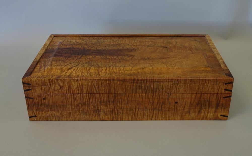 Marcus Castaing, Curly Koa Wood Jewelry Box