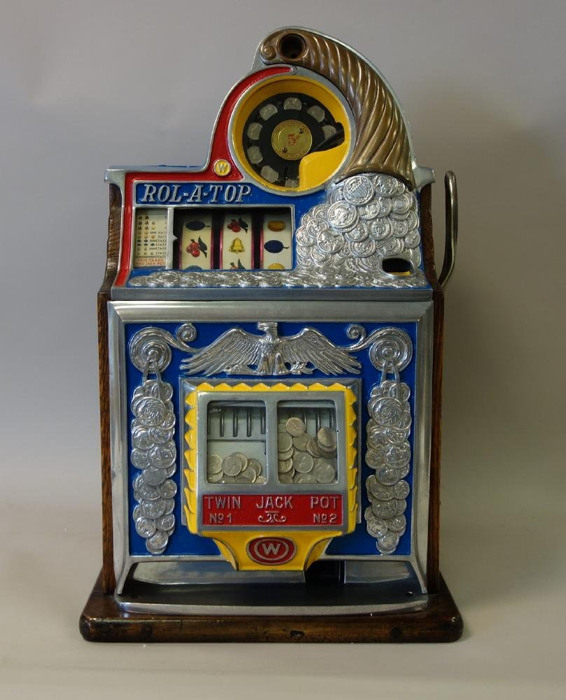 Watling Rol-A-Top Slot Machine, 5¢ American Coin